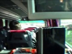 Serbian blonde suck cock in bus