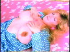 Retro girl makes her big tits lactate
