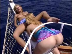 Hot group sex on a boat