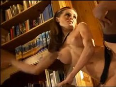 Sex in the library with incredible woman