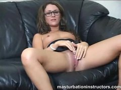 Glasses girl masturbation instruction and humiliation