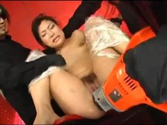 Toy sex with a hairy pussy Japanese girl
