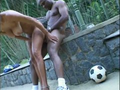 Hot busty girl fucked outdoors in her cunt