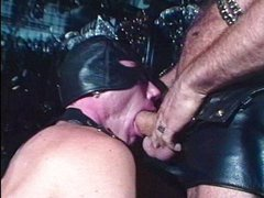Hunks in leather fucking around