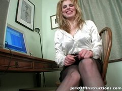 Stockings and Foot Fetish Jerk Off Instruction
