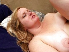 Horny chubby chick taking on two cocks