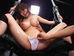 Japanese girl squirts hard when she cums