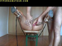 Amateur Slut Tied and extreme Anal Fucked with Cum...