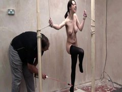Extreme electro torments to tears and cattleprod bdsm domination of english slavegirl Emily