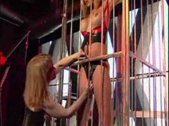 Sensual play with her sexy slave girl