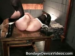 Kinky brunette end up tied in ropes part2