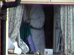 Filming a babe through her bedroom window