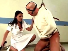 Nurse Penny Flame is horny flogs and slaps patient