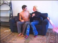 Mature Blonde and young dude