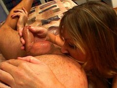 Chubby MILF cunted and licking ass