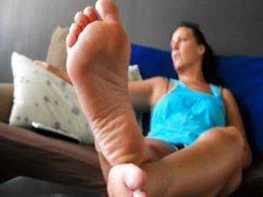Barefeet Propped Up
