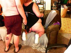 Fat chick getting spanked