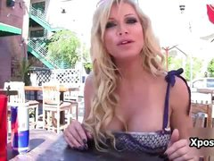 Sexy blonde babe Angie Savage loves