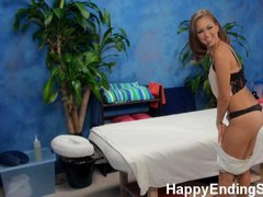 Slutty Massage Girls Fucks Client