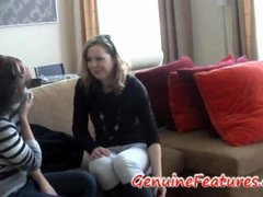 two shy teen ladies first casting