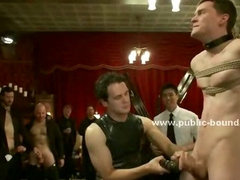 Men at gym undress after workout and take shower before friend brings a gay prey