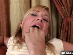 Hot blond half Asian babe anal sex and cumshots!