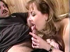 Busty Letha Weapons gives Ron Jeremy head, fucks, and titty fucks