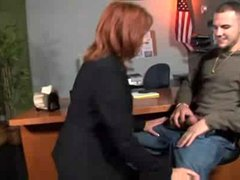 Hot Mature Cougar Fucks In Office