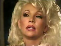 Hot busty blonde Helen Duval eats two cocks in a bar and gets banged for cumshot