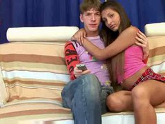 stunning teen with bf