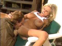 Briana Banks is a blonde porn babe who gets fucked by Evan Stone