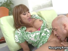 Ava Devine is wife's curvy asian friend. This milf with