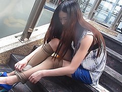 2013.5.23-104tan - Asian babe wearing pantyhose