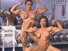 Hot and sexy muscle girls posing
