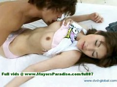 Yuzuru innocent beautiful japanese girl gets nipples licked and teasing