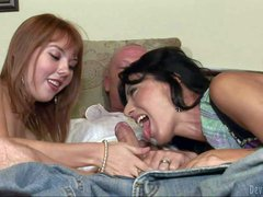 Zoey Holloway and Delila Darling enjoy in sharing one hard