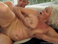 Norma is a sex obsessed slutty granny who can't get