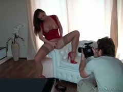 Behind the scenes of a Silvia Saint photo gallery