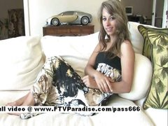 Delightful Amateur stunning girl on the couch