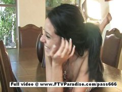 Awesome girl Tatiana brunette teen girl showing pussy
