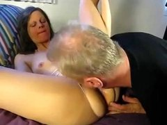 cuckold eats creampie from wifes bbc bull