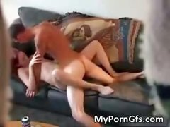 Skinny redhead babe gets pounded