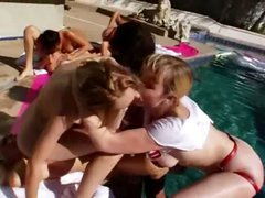 Perfect group anal copulating outdoors