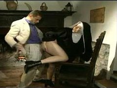 Nun is a horny cocksucking slut