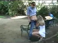 Young Russian girls fucking in public