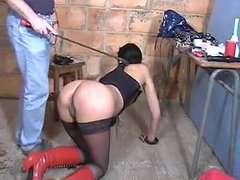 French girl in dungeon is used hard