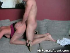 Sexy and hot brunette porn female agent part3