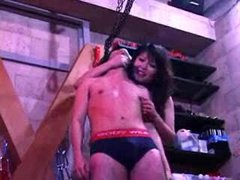 3 sexy Mistress and one slave-very hard