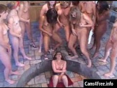 Lesbian Squirting Orgy Bukkake Party