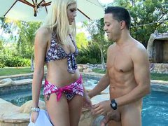 Young hot rich and horny blonde girl